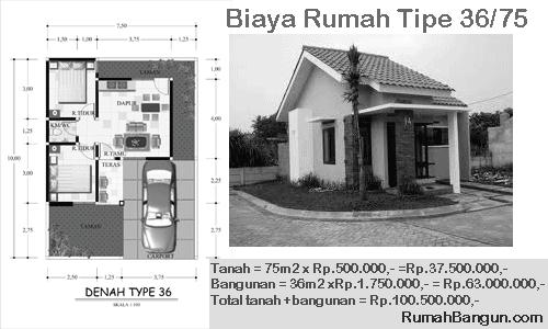 biaya rumah tipe 36