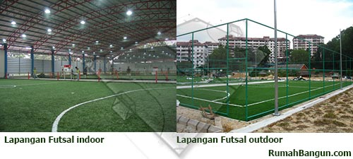lapangan futsal indoor dan outdoor