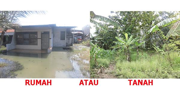 rumah atau tanah