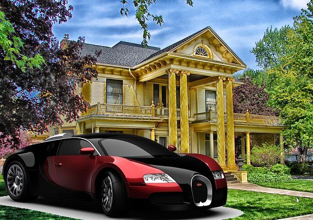 mobil atau rumah