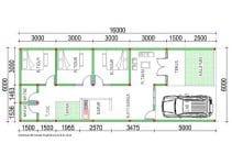 denah rumah ukuran 6m x 16m