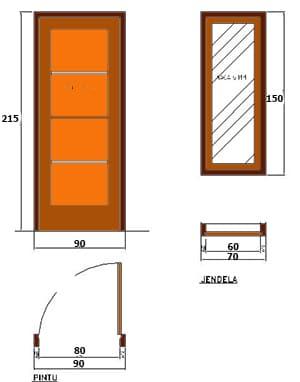 detail pintu dan jendela