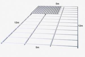 rangka atap baja ringan finish galvalum