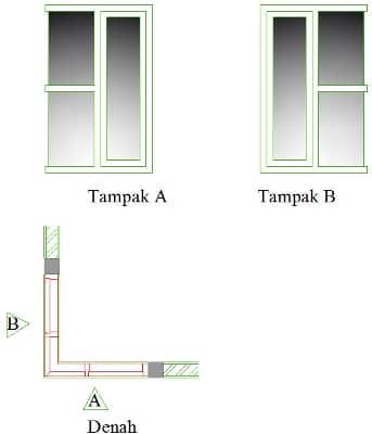 jendela sudut dinding rumah