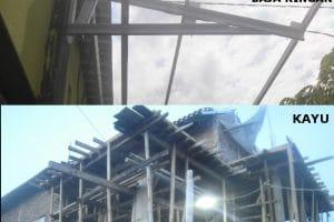 kayu atau baja ringan