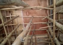 steger atau perancah bambu