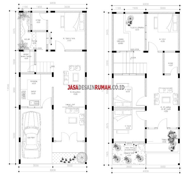 Desain Rumah 2 Lantai Dwg  denah pondasi rumah minimalis 1 lantai 2020 rumah